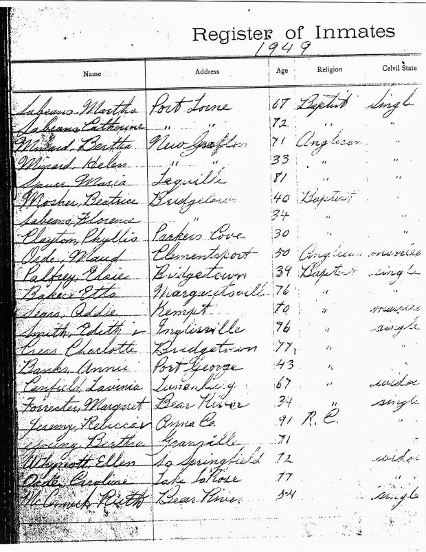 Bridgetown.RegisterofInmates.1949